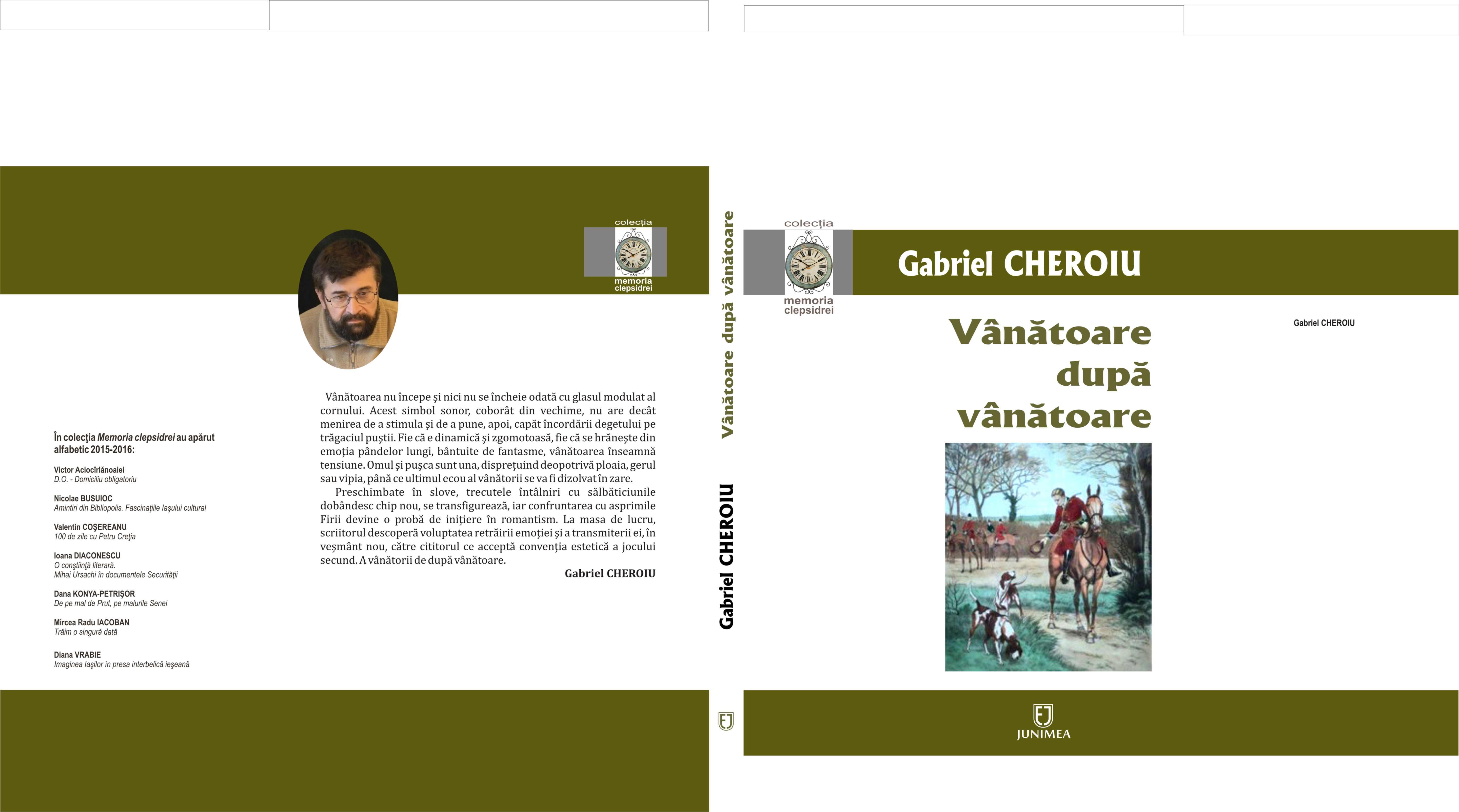 O NOUĂ CARTE CU SI DESPRE VÂNĂTOARE Joi, 17 noiembrie a.c., la ora 16, la deschiderea Târgului de carte Gaudeamus din București, prestigioasa editură Junimea își va inaugura participarea la […]